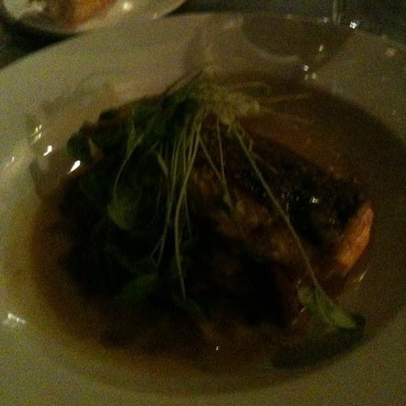 Pan Seared Salmon On Bed Of Carmelized Fennel - Le Paradis, Toronto, ON