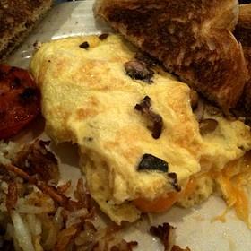 Mushroom Omelette - TEN at the Eldridge, Lawrence, KS