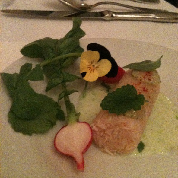 Crab, Radishes, Green Strawberries, Herbs And Whey - McCrady's Tavern, Charleston, SC