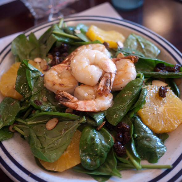 Spinach & Grilled Shrimp Salad - Billy's Boston Chowder House, Los Gatos, CA