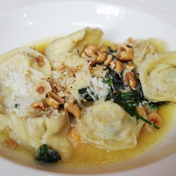 Butternut squash ravioli with brown butter - The Chefs' House - George Brown College, Toronto, ON