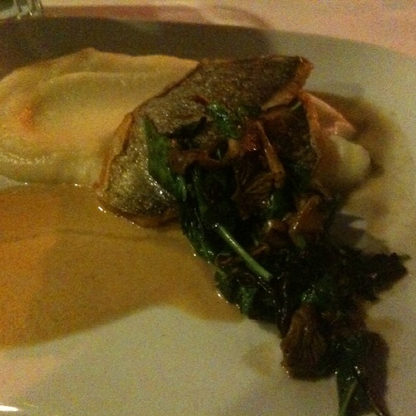 Bronzino With Cauliflower Puree - Bistro 18, Montclair, NJ