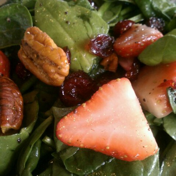 Baby Spinach Salad With Strawberries, Pecans And Cranberries - American Tap Room - Bethesda, Bethesda, MD