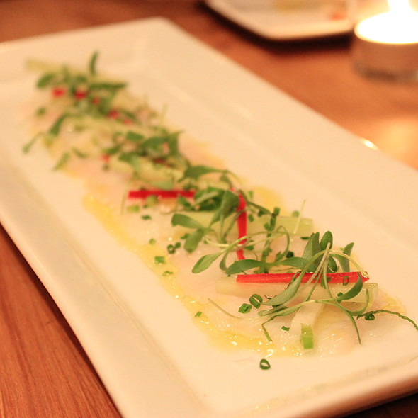 Fluke Carpaccio - Salt Wine Bar, Toronto, ON