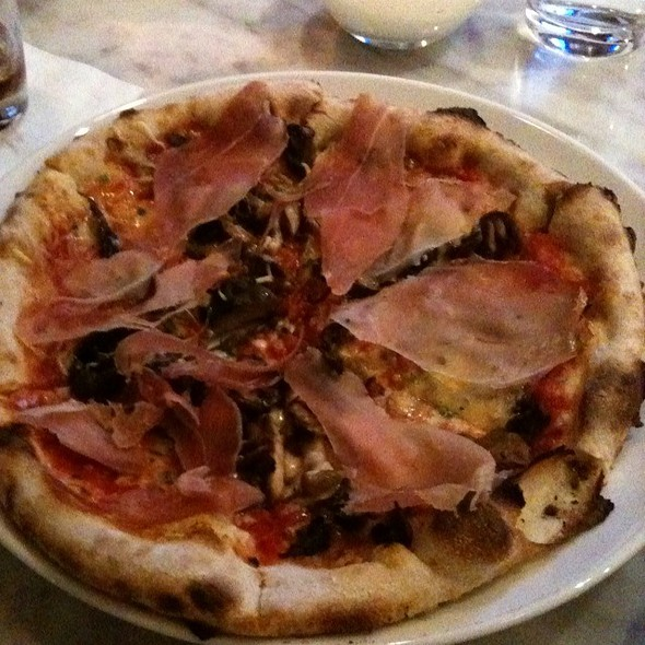 Mushroom Pizza With Prosciutto - Novo Pizzeria & Wine Bar, Vancouver