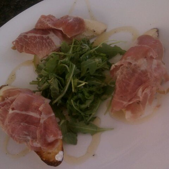 Bruschetta with Prosciutto, Arugula & Honey - Bon Appetit, Dunedin, FL