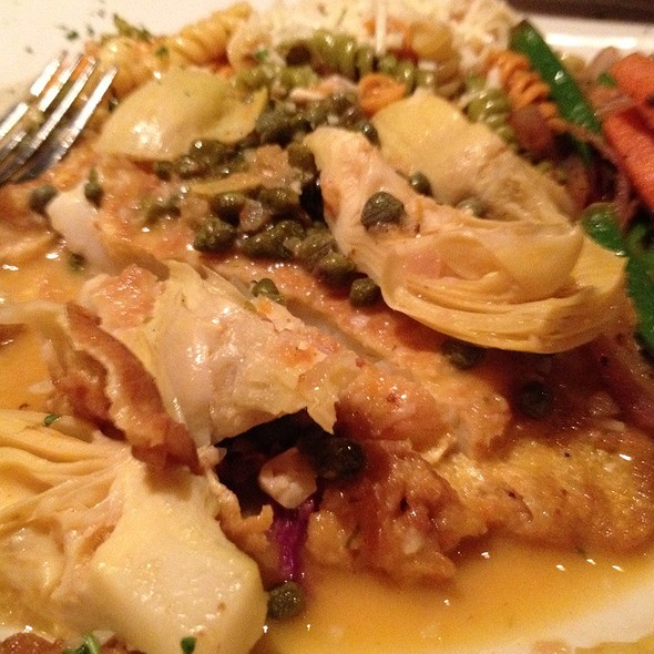 Calamari Steak With Artichoke Hearts - Grazie Ristorante - Southcenter, Tukwila, WA
