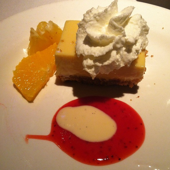 Key Lime Pie With Stawberry Margarita Sauce - Avenue Grill - Denver, Denver, CO
