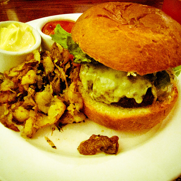 "Grilled ""Four Mile River Farm"" Hamburger - Firebox Restaurant, Hartford, CT"