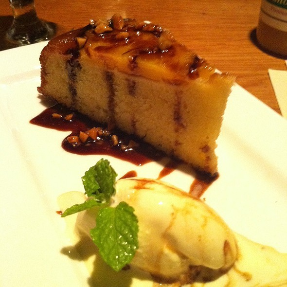Pineapple Upside Down Cake W/ Pele's Gold Ice Cream - 12th Ave. Grill, Honolulu, HI
