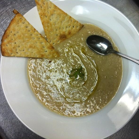 White Bean Soup With White Truffle Oil - Mirage Persian Cuisine, Atlanta, GA