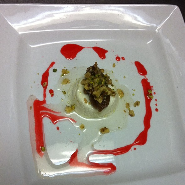 Goat Cheese & Date Desert With Rosewater And Cardamom Syrup - Mirage Persian Cuisine, Atlanta, GA