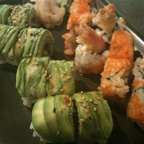 Caterpillar Roll And Shrimp Tempura Roll - Waraji Restaurant, Raleigh, NC