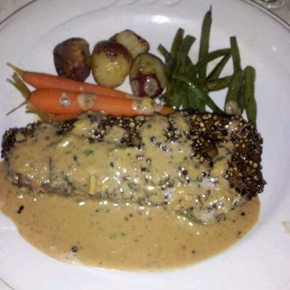 Steak Au Poivre - Melvyn's at the Ingleside Inn, Palm Springs, CA
