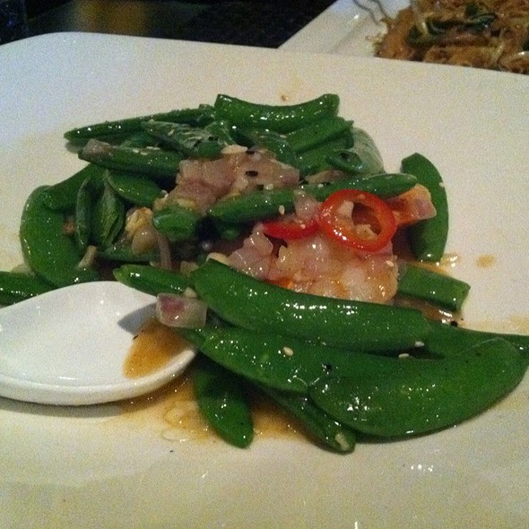 Shrimp Sesame Sugar Snap Peas - Starfish Restaurant, Laguna Beach, CA