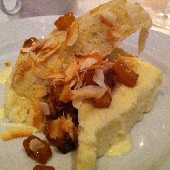 Coconut Cake With Carmelized Pineapple And Rum Creme Anglaise - Prelude at McCaw Hall, Seattle, WA
