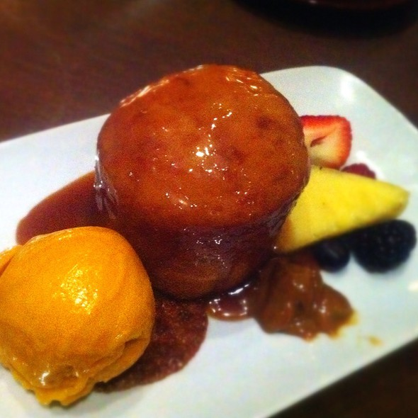Pineapple Upside-Down Cake With Mango Gelato - Sarpa Restaurant, Richmond Hill, ON