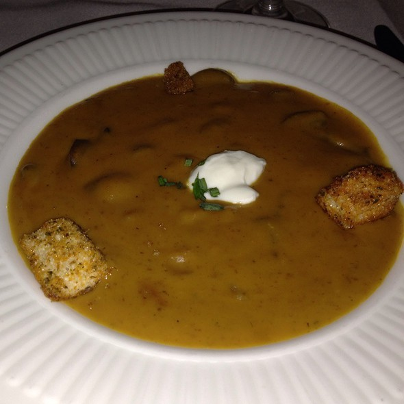 Pumpkin Mushroom Soup - Back Burner Restaurant, Hockessin, DE