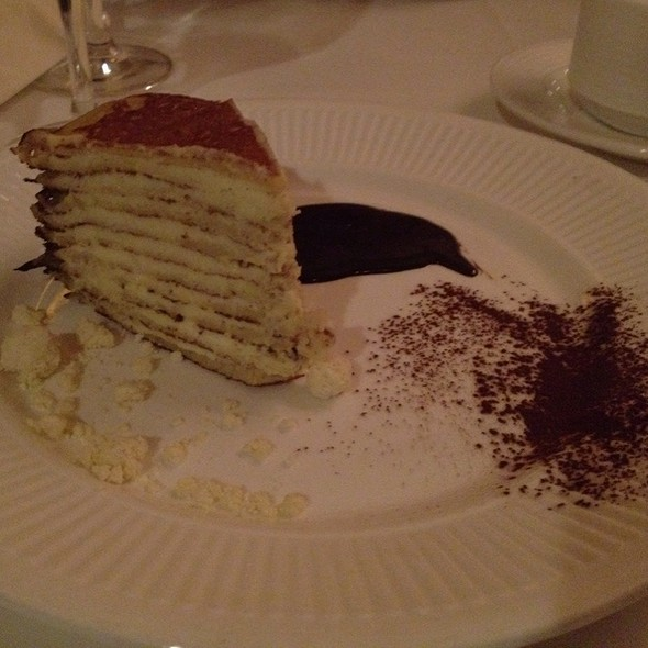 Vanilla Crepe Cake - Back Burner Restaurant, Hockessin, DE