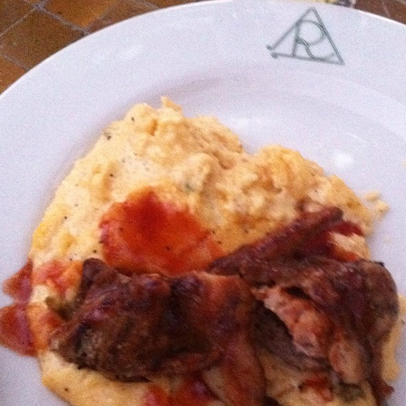 Smoked Quail With Jalepeno Cheddar Grits And Molasses Bbq Glaze - Reata Restaurant - Alpine, Alpine, TX