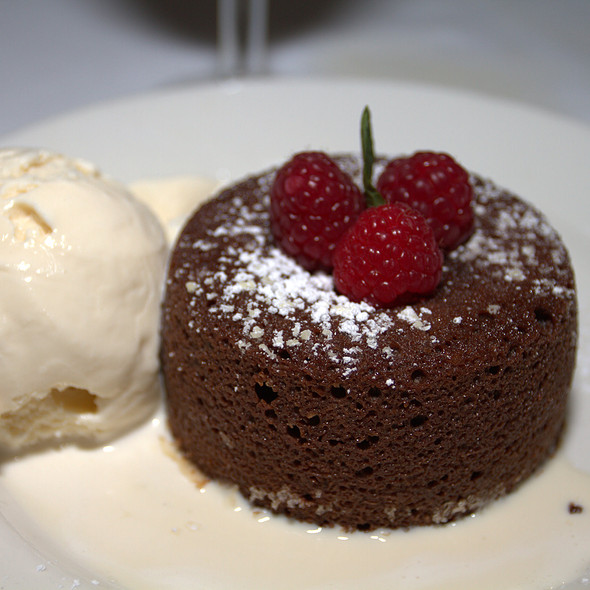 Morton's Legendary Hot Chocolate Cake - Morton's The Steakhouse - Sacramento, Sacramento, CA