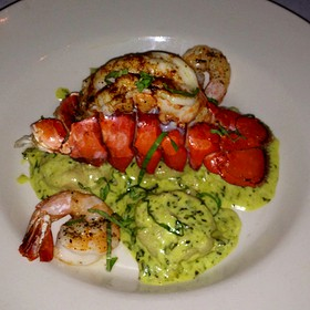 Lobster Ravioli W/ Shrimp Pesto - Collage Restaurant, St. Augustine, FL