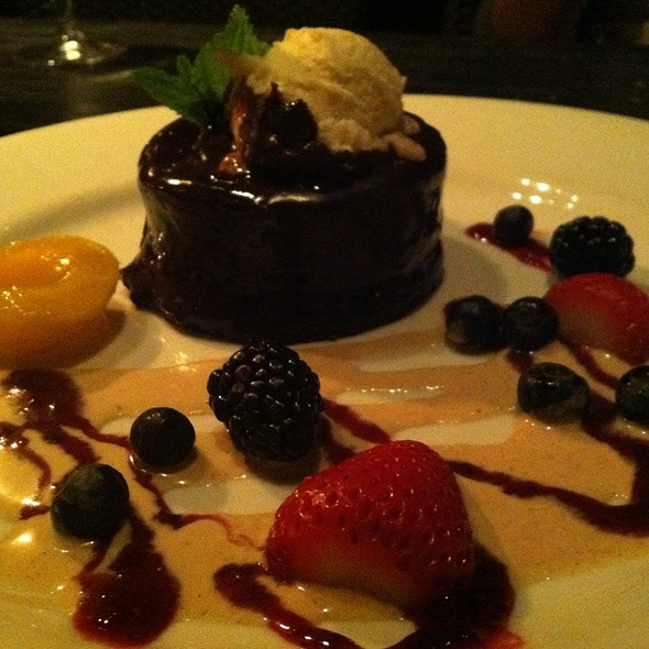 chocolate ganache - Mozambique Restaurant, Laguna Beach, CA