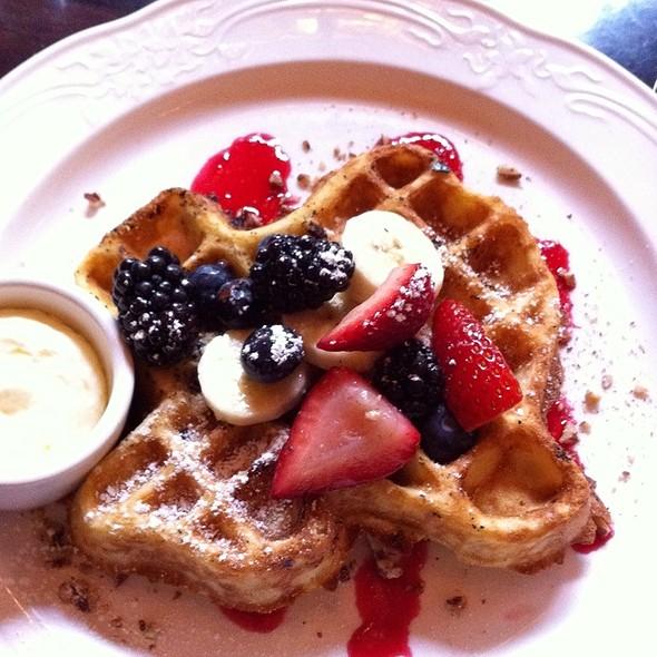 Texas Pecan Waffle - Driskill Grill - Driskill Hotel, Austin, TX
