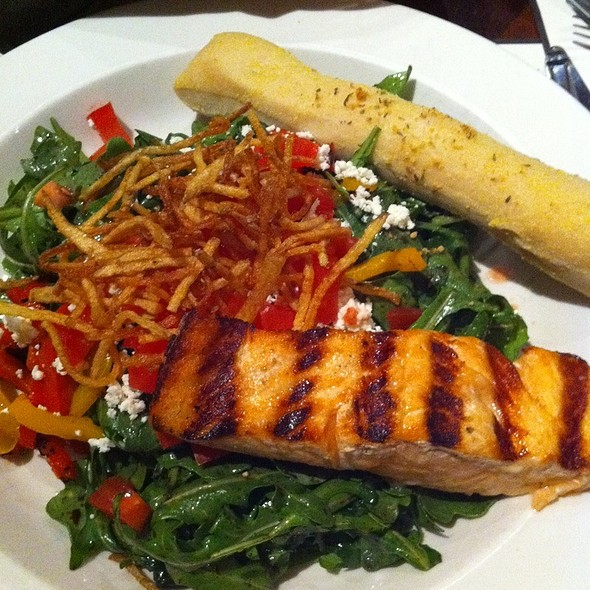 Grilled Salmon Salad - Iron Hill Brewery - West Chester, West Chester, PA