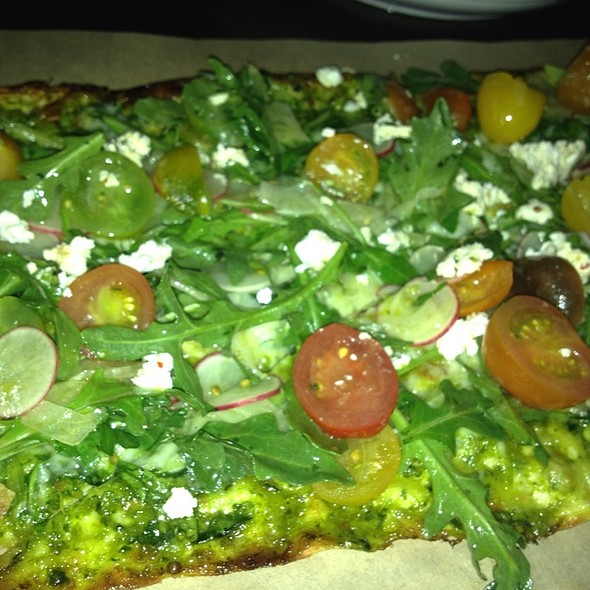 Green Garlic Flat Bread - Cleo - Hollywood, Los Angeles, CA