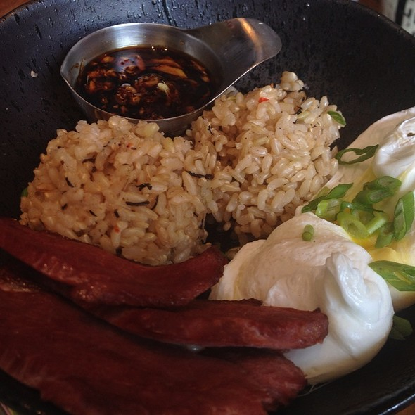Brown Rice Egg Bowl With Smoked Duck - Samovar Tea Lounge - Mission/Castro, San Francisco, CA