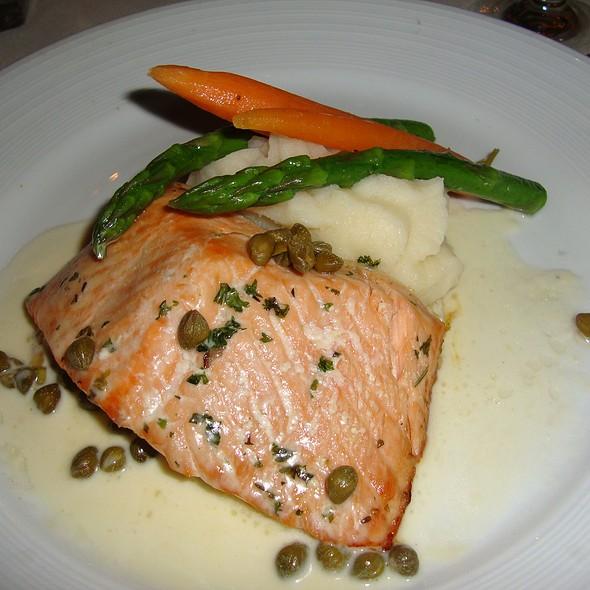 Salmon with Caper Butter & Mashed Potatoes - Orange Hill Restaurant, Orange, CA