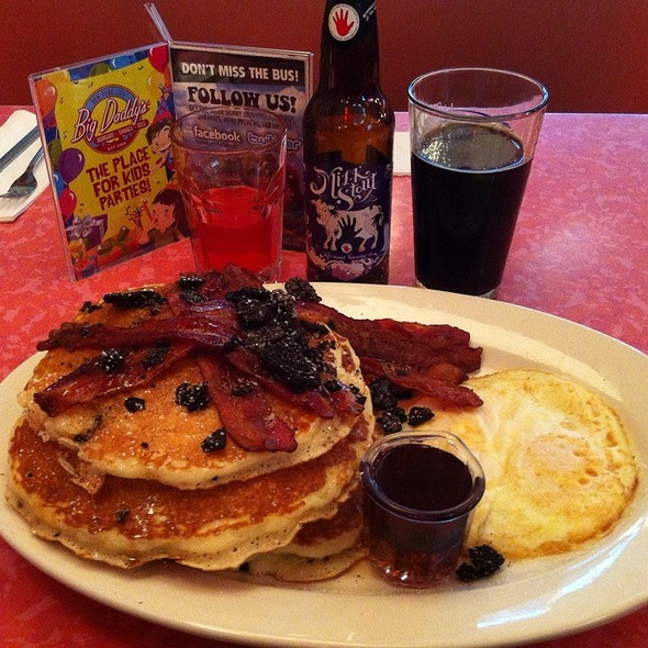 Gigantic Stack Of Pancakes With Bacon And Oreos - Big Daddy's - Gramercy Park, New York, NY