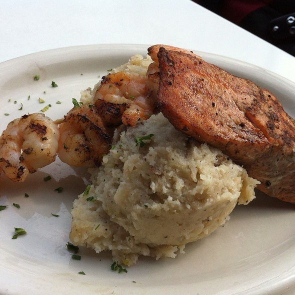 Mashed Potato Bar (2 Scoops With Grilled Salmon And Shrimp) - 4 Bells, Minneapolis, MN