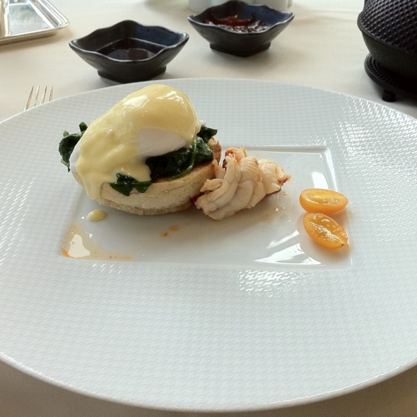 Eggs Benedict with Lobster Medallion - NoMI, Chicago, IL