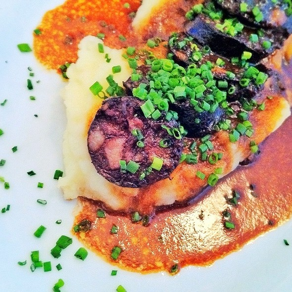 Grilled Blood Sausage w/ Mashed Potatoes - Angelini Osteria, Los Angeles, CA