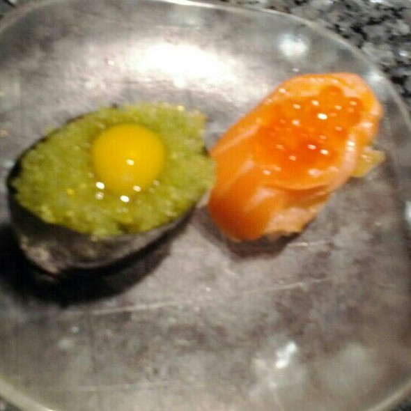 Eggs, Eggs and Salmon - Rare Steak and Sushi, Minneapolis, MN