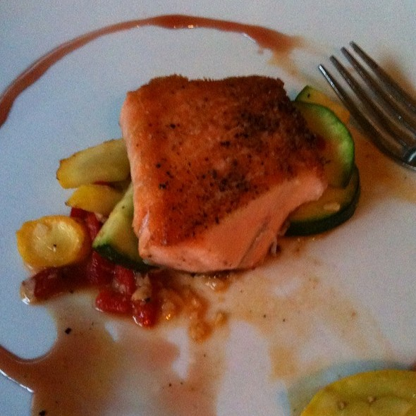 Unilaterally Seared Salmon - Michael's Tasting Room, St. Augustine, FL