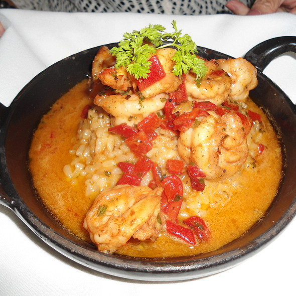 Shrimp and Piquillo Peppers with Crisp Bomba Rice - The Capital Grille - Boca Raton, Boca Raton, FL