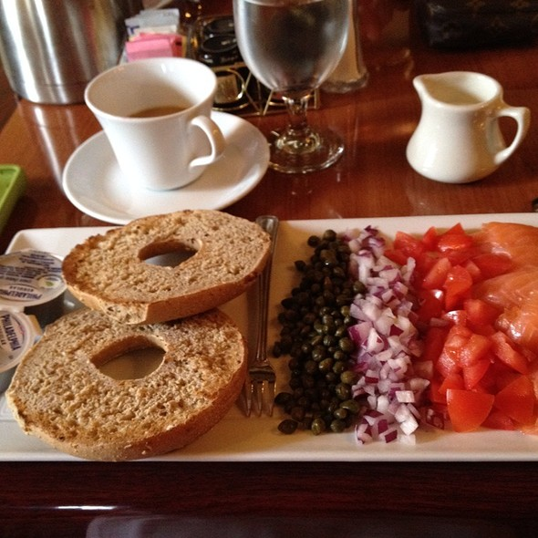 Bagel And Smoked Salmon Plate - One Bellevue, Newport, RI