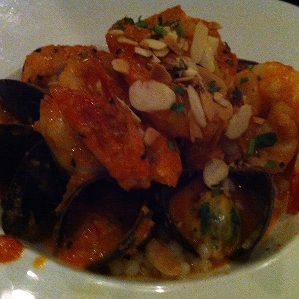 Seafood Romesco Over Pearl Rice - Logan Tavern, Washington, DC