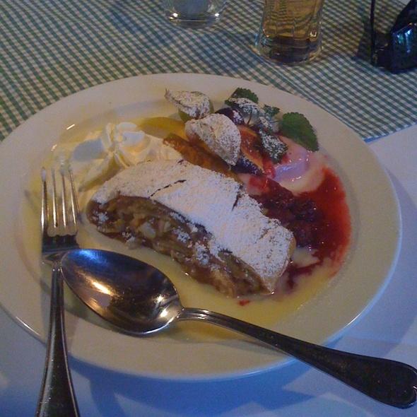 Apfelstrudel with Vanilla Sauce - Tiroler Bauernstuben, Berlin