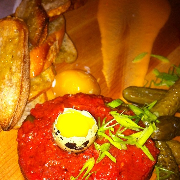 Beef Tartare With Quail Egg - The Admiral, Asheville, NC