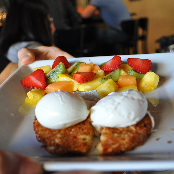 Crab Cake Benedict - Triptych, San Francisco, CA