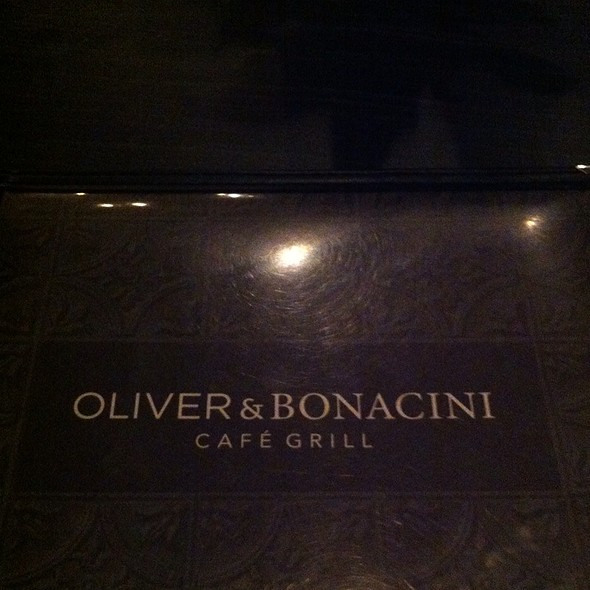 Menu - Oliver & Bonacini Cafe Grill, Blue Mountain, Blue Mountains, ON