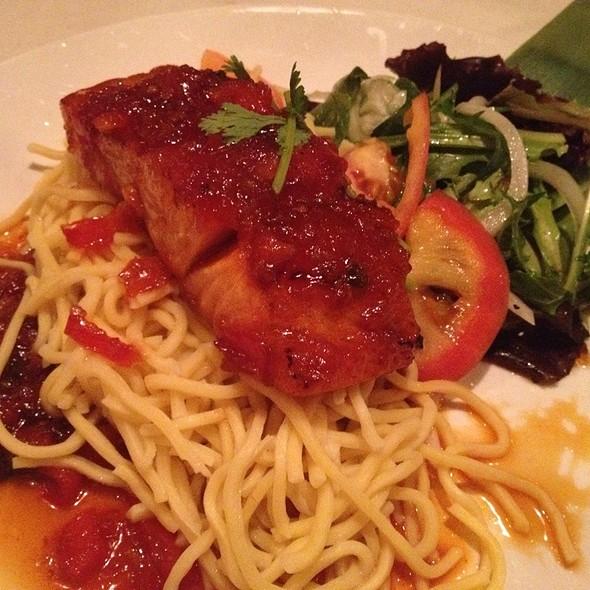 Salmon With Tomato Sauce - Typhoon Asian Bistro, Boston, MA