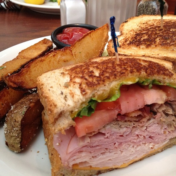 Turkey Club With Steak Fries - Austin's Woodfire Grille - Brecksville, Brecksville, OH