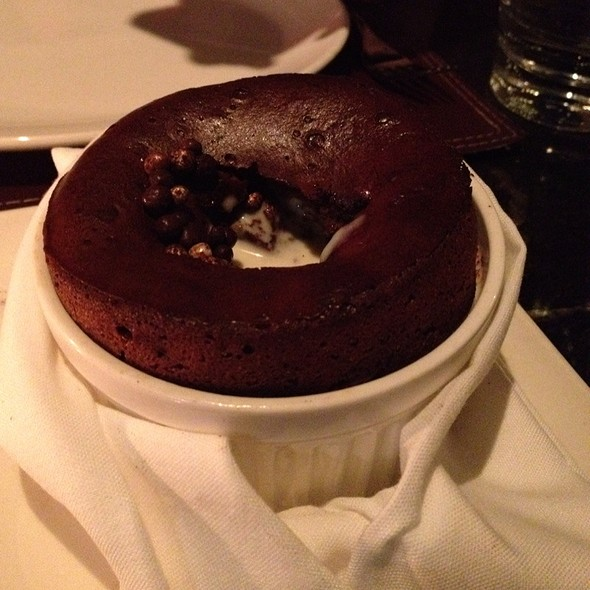 Chocolate Souffle - Black & Blue Steakhouse, Vancouver, BC