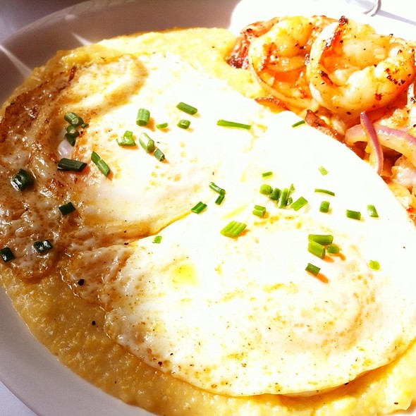 Shrimp And Grits - Easter Brunch Special - Cork and Fin, Vancouver, BC
