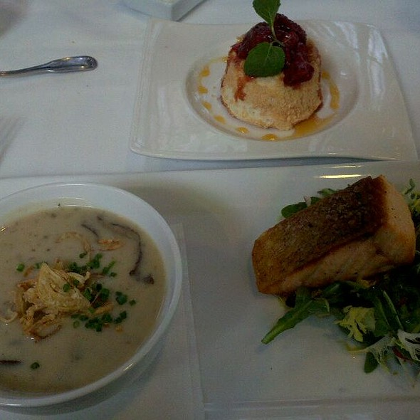 Mushroom Soup & Salmon - 1906 at Longwood Gardens, Kennett Square, PA